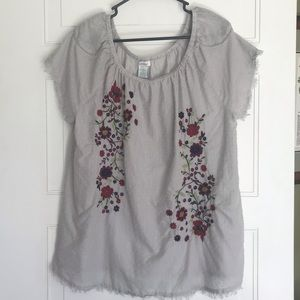 Sundance Embroidered Peasant Top Size Large